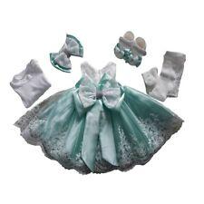 BABY Kleid Taufe Taufkleid Festkleid Weiß Mint 5-teilig Body Schuhe Stirnband 62