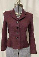 Vintage Gianni Suit Jacket Blazer Pure Wool Size 2 Petite Schoolboy Business