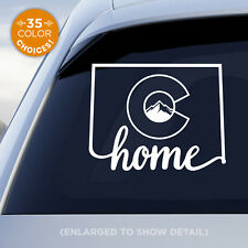 """Colorado State """"Home"""" Decal with stylized Colorado flag in middle of decal!"""