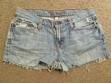 ABERCROMBIE & FITCH Distressed Cut Off Jean Denim Bootie Booty Shorts womens 2