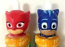Good2Grow Collectible Disney PJ Masks OWLETTE & CATBOY Juice BOTTLE TOPPERS