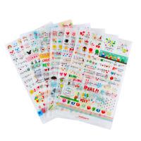 6Pc Korean Style Calendar Paper Sticker For Scrapbooking Diary Photo Album Decor