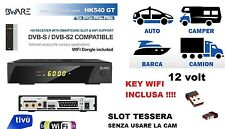 DECODER SATELLITARE HD S2 BWARE HK540GT+WIFI, LEGGE SCHEDE TIVUSAT E TV RSISVIZZ