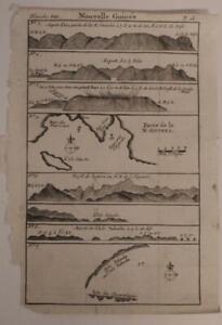 PAPUA NEW GUINEA 1712 DAMPIER UNUSUAL ANTIQUE ORIGINAL COPPER ENGRAVED CHART