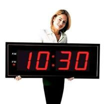 Large Industrial Warehouse Cafeteria Gym Clock 8 Inch Numbers Aluminum Frame
