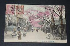 CPA 1913 JAPON NIPPON JAPAN YOKOHAMA CHERRY BLOSSOM NOGE HILL CERISIERS FLEURS