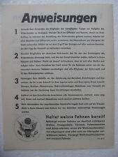 Volantino-Leaflet-capitolazione Baviera 1945 original Bez. 7a-d12/2wk 2ww