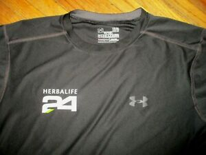 HERBALIFE 24 UNDER ARMOUR T SHIRT Fitness Performance Workout Heat Gear Black LG