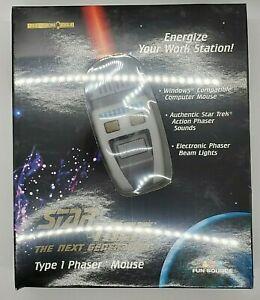 Star Trek Next Generation Type 1 Phaser Mouse Federation Issue 1997 TNG NIB