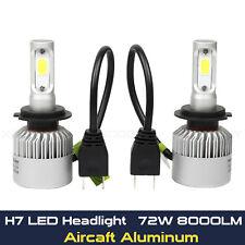 2x H7 8000LM 6500K White LED Headlight Driving Fog Lights Replacement Bulbs Kit