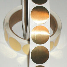 Shiny Gold Metallic Foil Seals, 1 Inch Circle, Roll of 100 Peel & Stick Labels