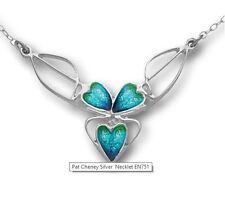 Ortak Pat Cheney Silver Aquamarine Necklet & Chain - HANDMADE Art Deco / Nouveau