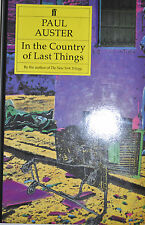 IN THE COUNTRY OF LAST THINGS BY PAUL AUSTER  *SIGNED*FIRST EDITION*