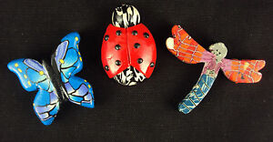 Comfort Clay Handcrafted Charms of Choice Butterfly, Lady Bug New Free USA Ship