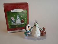 Hallmark Keepsake Ornament 2001 Frosty Friends #22 Eskimo Husky Dog Tree NIB NEW