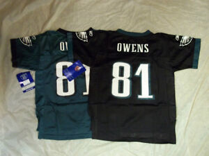 TERRELL OWENS #81 PHILADELPHIA EAGLES CHILD SIZE NFL JERSEY FREE SHIPPING