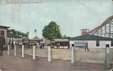 1911 Postcard - The Midway - Crescent Park Rhode Island - MOXIE Sign