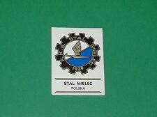 PANINI FOOTBALL CLUBS 1975 N°235 F.K.S. STAL MIELEC POLSKA POLOGNE BADGE ECUSSON