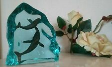 K CANTRELL Lucite Bronze Whale Figurines #19/2550 GENESIS LIMITED EDITION