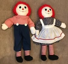"""Life size 36"""" Raggedy Ann and Andy Designer Cloth Dolls"""