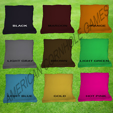 8 Quality Cornhole Bean bags! All Weather Corn Hole Bags- Free Bag Carry Pack!
