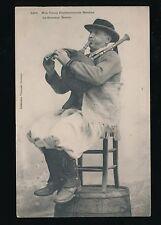 France Nos Vieux Professionnels Bretons Le Sonneur Breton pipe player 1906 PPC