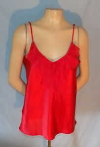 Simply Gorgeous  Morgan Taylor Metallic Red Satin-Like Camisole/Top Size Large