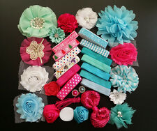 Deluxe DIY kits,Baby Shower Station,Headband,shabby flowers Party Supply,S15