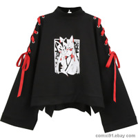 Harajuku Preppy Style Japanese Loli Girl T-shirt Long Sleeve Pullover Tops Short