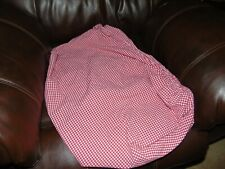 Pottery Barn Kids Red Gingham Crib Fitted Sheet  100% Cotton 5% Organic Fibers
