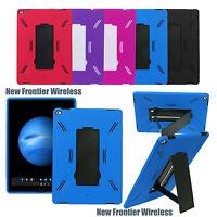 "For iPad Pro 12.9"" Heavy Duty Armor Kickstand Shockproof Case + Screen Protector"