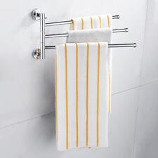 Giratoria rack baño cocina titular 3brazo montado en pared cromo toalla toallero