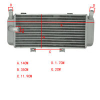 Left Motorbike Aluminium Cooling Radiator for Honda CRF450X 2005-2010 New