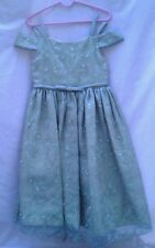 MINT!! BONNIE JEAN Girls 5/5T green shimmer Holiday Special Occasion Dress EUC