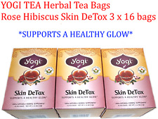 3 x 16 bags YOGI TEA Rose Hibiscus Skin DeTox Herbal Tea Bags (Total: 48 )