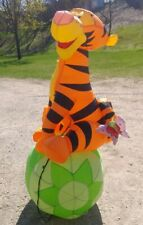 Disney Tigger Spring Yard Inflatable By Gemmy Pooh Decoration Easter Blow Up Lit