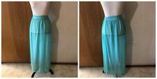"Unbranded Costume Dance Green Four Sheer Panel Fabric Skirt W25"" - 34"""