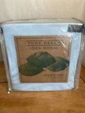 Pure Beech 100% Modal Jersey Knit Twin Sheet SetIce Blue 3-Piece Soft Easy Care