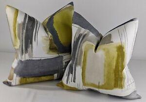 """HARLEQUIN KHANJIRO FABRIC DESIGN """" Ochre / Charcoal / Stone"""