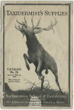 1928 Taxidermists Supplies Catalog; NW Taxidermy School Omaha Tools Skulls Tails