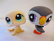 Littlest Pet Shop LPS Lot Puffer Penguin Yellow Seal