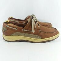 Sperry 'Billfish' Brown Leather Boat Shoes Mens 9M