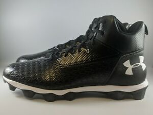 Under Armour Hammer Mid RM Football Cleat Size 15 Wide Black 3022174-001