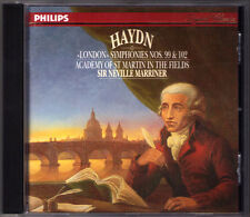 Sir Neville Marriner: Haydn LONDON SYMPHONY N. 99, 102 Philips CD 1991 sinfonie