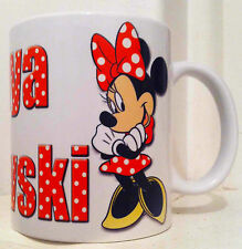 MINNIE MOUSE Personalised Mug with your name/message.