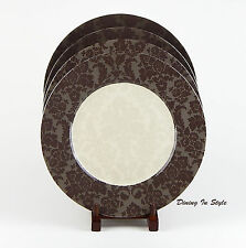 Set of 2 Dinner Plates, SUPERB! La Belle Sepia, 222 Fifth, PTS International