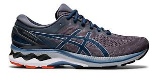 Men's Asics Gel-Kayano 27 Grey Blue Running Shoes Sizes 8-13