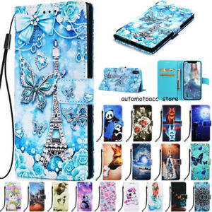 For iPhone 13 12 11 Pro Max XR XS 6/7/8+ Cartoon Wallet Leather Phone Case Cover