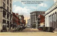 El Paso, TEXAS - Mills Street - 1922 - old cars & trucks
