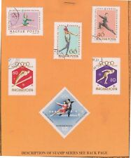 (V9-14) 1968 Hungary 5stamps Olympics on stamp card (N)